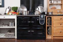Range cooker and wood burner