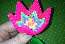 perler beads_꽃, 나비, 벌 / perler beads,꽃