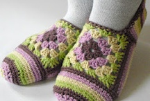 Crochet - slippers, socks, shoes & booties / by Amy Fenner