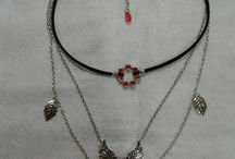 3 layer choker with charms