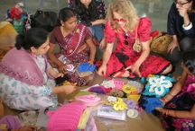 Olek / Artist Olek visits India and works with ST+ART and All Kraftz to cover a women's shelter in crochet. All Knitter's Pride hooks were used. / by Knitter's Pride