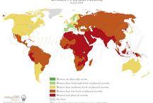 Mapas sobre la situación de la mujer en el Mundo / mapas sobre la situación de la mujer en el Mundo