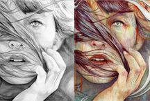 Pencil to Paint / In the age of Photoshop, many artists use digital illusions and tools to edit out imperfections and create visual enhancements to their work. This makes the following pencil-drawn to paint artwork all the more amazing.  Michael Shapcott is the artist behind this brilliant Pencil to Paint Series.  https://studiovox.com/blog/archive/2015/05/04/pencil-to-paint