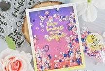 My cardmaking: Shaker Cards