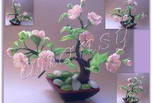 kanzashi bonsai kytky