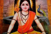 "Skanda/Kartikeya/Murugan / Skanda, Kartikeya, Murugan, Shanmukha, Mahasena, Swaminatha, Agninandana. Son of Shiva & brother of Ganesh, great Hindu God of ""war, love and beauty"", supreme commander of Deva army. Om Saravanabhava"
