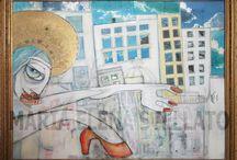 Dipinti di Maria Elena Stellato / tentativi di comunicazione...