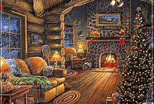 Χριστουγενιατικοι πίνακες