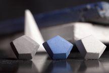 Bodycon Concrete Earrings / .ab concrete design X BLACKLIST concrete earpins