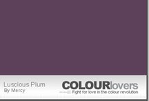 Plum / Inspirational home decorating using plum colors