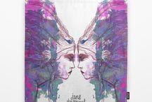 Jane Davenport's Whimsical Art / Ce tableau est dédié à Jane Davenport. Artiste australienne de renom en journaling et mixed-media. Elle dispense des cours accessible à tous via le web ou en personne à travers le monde.