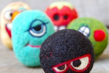 felted and stitch