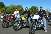 2015 Hansen Dam Ride / Annual Hansen Dam Ride hosted by the So Cal Norton Motorcycle Club. John Calicchio brought his three flagship motorcycles. The Triumph Super Moto, Street Tracker and TT Special!