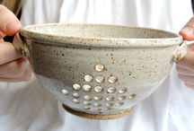 colanders and other kitchen ware