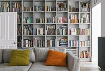 Books in living room