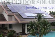 Aquecedor de Água Solar / Veja + Inspirações e Dicas de decoração no blog!  www.construindominhacasaclean.com