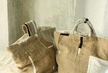cuore per le borse / borse tessuto handmade