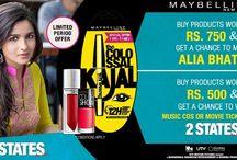 Maybelline Contest Winners / 3 Lucky Winners (Purplle Customers) Got a change to meet & Greet Stars of 2 States - Alia Bhatt & Arjun Kapoor