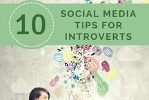 Social Media for Introverts / social media, introverts, tips, guides, lists, online business, entrepreneurs, creative business, networking