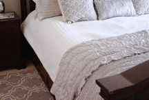 Master bedroom bedding  / by Whitney Tow