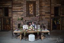 Indoor Reception Barn / Indoor Wedding Reception at Big Sky Barn