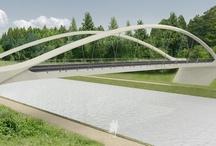 The new Harchies bridge, spanning 70 m / Harchies Tied Arch Bridge - Bernissart, Belgium