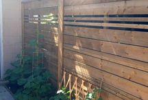 Slat fences
