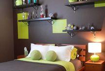 Brown n green room