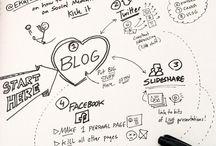 Visual Thinking & Social Media / Grafismos que representan estrategias de acción en Social Media.