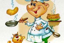 ilustraciones de cocineros