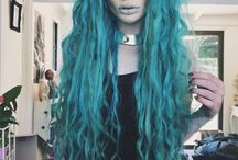 Mermaid Hair / Mermaids have long, wavy tresses in the colours of the sea. Choose colours from pastel blue and pink to deep turquoise and greens, even dark greys for balance.
