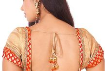 Saree blouse back designs for silk sarees