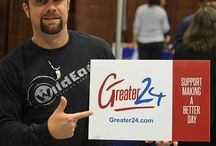 Greater24 Initiative / An initiative that encourages positive momentum in the lives of people and their community that makes our society greater every 24 hours. Greater24.com