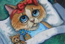 JOY CAMPBELL AND CATS / Cat painter Joy Campbell