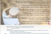Talleres de Verano 2015 / Taller de Artes Plásticas, Taller de Arqueología y Taller de Patrimonio y Literatura.