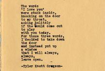 Tyler Knott Gregson / by J Indigo
