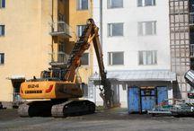 Valkean rakentaminen / Kuvia Valkean rakentamisen eri vaiheista.
