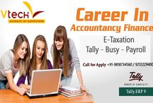 E-Accounts & E-Taxation Training Course / Vtech Career Programs provide in-depth preparation for careers. Developed by practicing professionals, Whether you want to improve skills in E-Accounts & E-Taxation Training Course