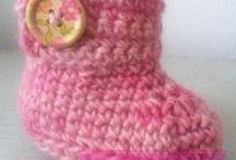 Botitas bebés / Botitas para bebés hechas a mano con lanas naturales y acrílicas