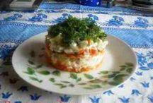 Салаты / Пошаговые рецепты приготовления салатов
