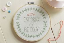 E M B R O I D E R Y / Hand embroidered hoop art. Can all be found in my etsy shop