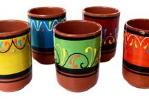 Tierra Collection of Hand Painted Spanish Pottery / Terracotta pottery hand painted in Spain.