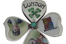 Souvenir 4-Leaf Clover Heart Folding Slider Charms