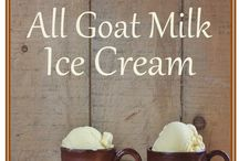 ice cream from goat milk