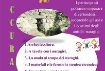 Locandine eventi e laboratori didattici / Notizie su eventi e attività culturali realizzate presso l'area archeologica di Cuccurada