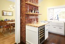 Castro Kitchen / We brought the kitchen and dining room of this 1920's Castro cottage back to life with modern farmhouse detailing and exposed brick.