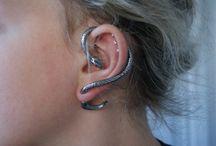 axe3 / accessories earrings body piercing / by Nelie Rednow