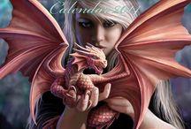 Calendriers féerique et gothique / Images de calendriers féerique, fantasy et dark gothique proposé à la boutique http://www.fed-corp.com