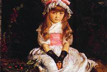 Pinturas niños victorianos