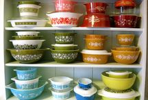 Vintage Kitchenware / I collect Country Festival from Corningware, Spring Blossom, Crazy Daisy, and Friendship from Pyrex, and Meadow Green from Anchor Hocking